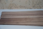 American walnut strips (light colored)