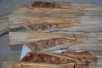 Selected olive wood pieces